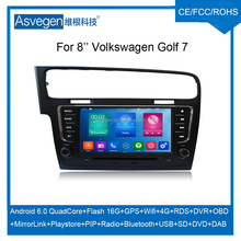 Wholesale Android Car DVD Player For 8'' Volkswagen Golf 7 Car Audio Navigation Support Bluetooth Radio Wifi Playstore