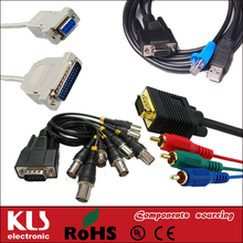 Good quality 30+5 pin dvi m to m 15 pin vga+usb cable UL CE ROHS 020 KLS brand
