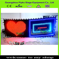 2mtrx3mtr led video curtain star cloth matrix Backdrop SD with software