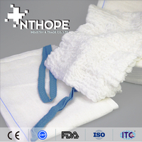 100%cotton hospital supply hemostatic sponge