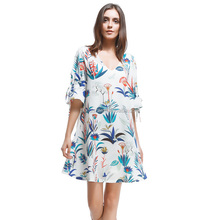 Women Dress Casual Loose Fit Summer Dresses Latest Printed Chiffon Dress