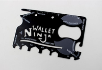 wallet ninja multi tool credit card with leather case camp tool card customize logo