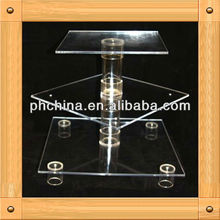An-b715 european design factory sell acrylic tube cake stand/wedding cake stand crystal/glass cake stand