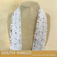 Beige Floral Print Cotton Lace Trim , DIY Accessories Clothing.Curtain Lace Materials Width 4cm 5Yds/lot-QX
