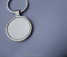 Round zinc alloy blank keychain for laser engraving printing custom logo, mirror shiny round blank key ring, key holder/finder
