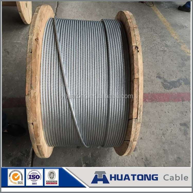 standed galvanized iron wire for Stay Wire/Messenger Wire application /Steel Wire manufacturer price