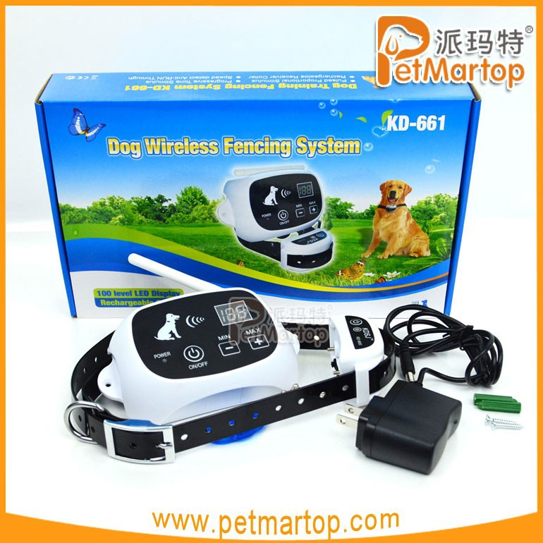 China Supply Electric Dog Fence Wireless Shock Collar Waterproof Hidden System