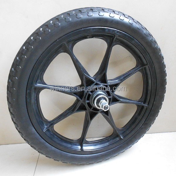 "16""x 1.95"" 16 inch PU foamed plastic trailer wheel"