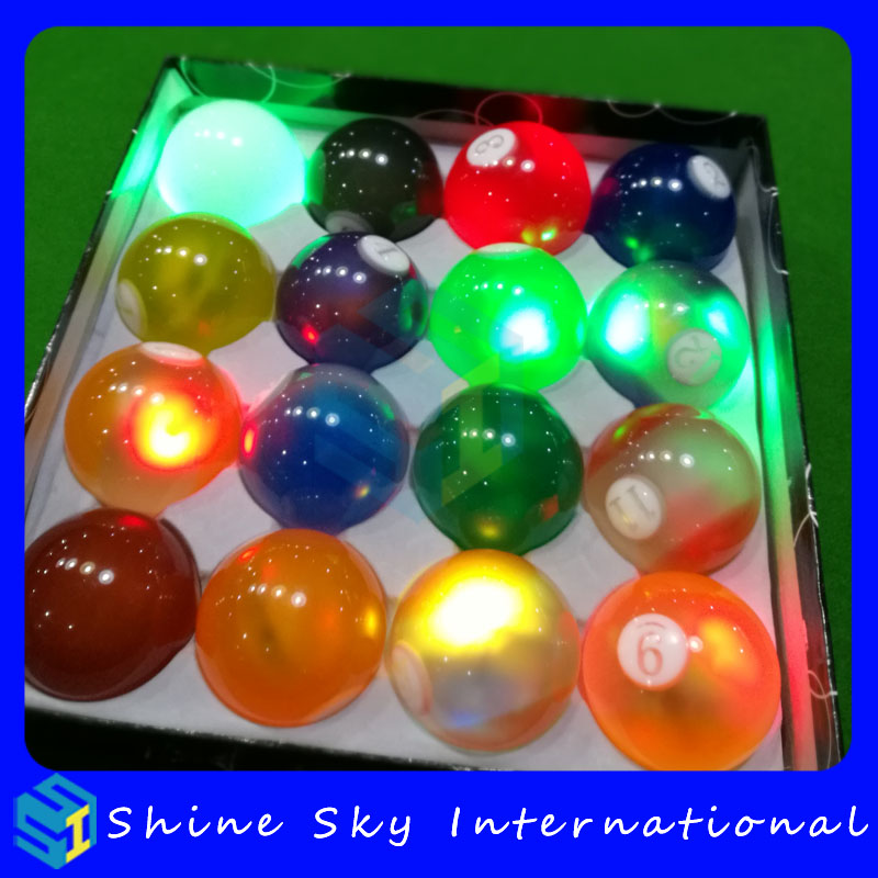 2017 New Product High Quality Crystal Billiards Led Billiard Balls Patented Product