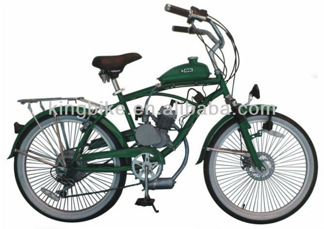 "26"" electric motor beach cruiser bicycle electric with 48cc motor bike KB-MT-Z01"