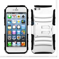 Shockproof Silicon & Plastic Hard Phone Back Cover For iPhone 5/5S, Protective PC Silicon Hybrid Amor Case for iPhone 5S