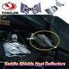 Motor spare parts dark smoke ABS Saddle Shields heat deflector for Harley davidson Dyna 99-16