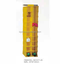 2015 Foldable Fabric Hanging Closet Organizer for shoe clothes With 20 Shelf Wholesale