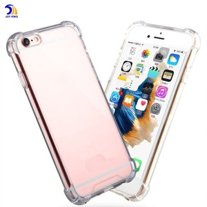 Acrylic Phone Case for iPhone 7 Ultra Clear Solid TPU Bumper Back Cover Protective Cases for iPhone 6 Plus 6s Plus 7 plus