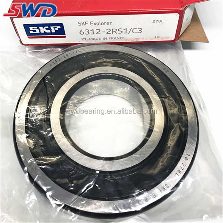 Large in stock SKF ball bearing price list 6312 2RS1 C3 bearing boxes