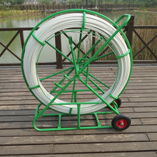 Fiberglass duct Rodder for pull cable into duct, Fiber optic cable duct rodder