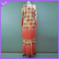 New design beaded chiffon design baju kurung moden