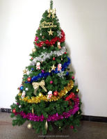 2015 christmas decoration christmas tree 7ft with ROHS PVC