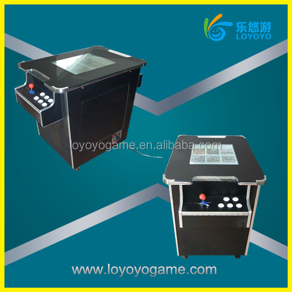 2018jamma multi game table arcade cabinet two sides cocktail bartop arcade table game machine 60 in 1 multi game pcb factory