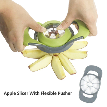 New Style Kitchen Gadgets Stainless Steel Apple Cutter / Corer Slicer With  Flexible Pusher - Buy Apple Slicer,Apple Corer Slicer,China Factory ...