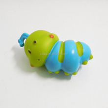 Popular Cartoon Shaped Rubber Caterpillars for Kids Playing Green Plastic Caterpillar Toys