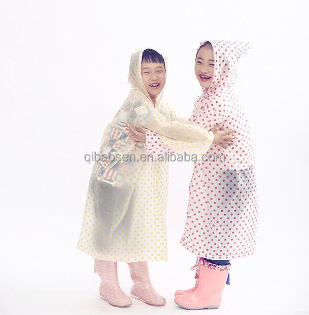 Children raincoat, Disposable reversible folding thick raincoat,disposable plastic raincoats