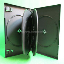 pp 22mm black 6disc dvd case,plastic 6discs dvd box