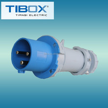 2015 Newly developed TIBOX fireproof 3 pin plug 2 flat pin plug
