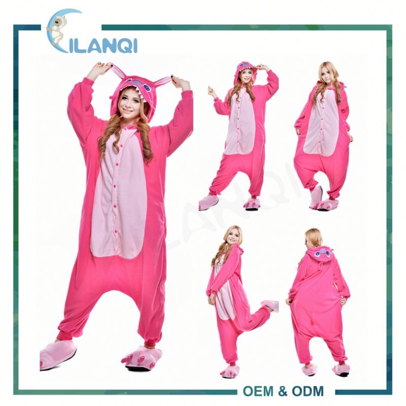 ALQ-A020 China supply type 100% polyester mens footed pajamas