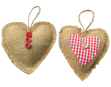 Christmas ornaments hanging heart