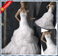 2013 Sexy sweetheart applique beaded ruffles ball gown wedding dresses detachable bell sleeve wedding dresses