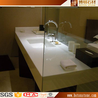 chinese commercial bathroom sink crystal white galaxy quartz vanity counter top