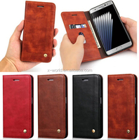 wallet leather phone case flip leather case for Samsung Galaxy Note 7