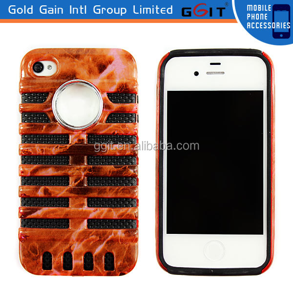 Customized Soft Silicon Fish Bone Mobile Phone Case For Iphone 4S