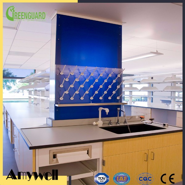 Amywell Antibacterial phenolic board HPL chemistry laboratory / lab work table