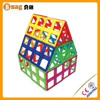 New MagKiss-Magformers Set Magnetic Building Toys Triangules Rainbow Family Fun Game Kids