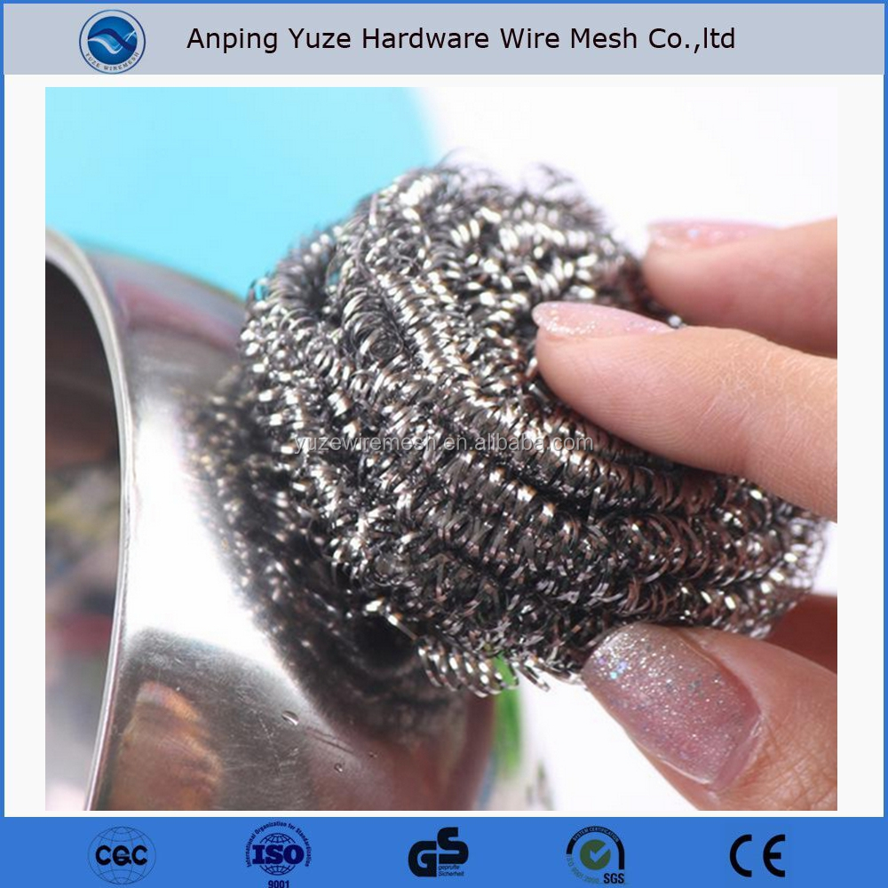 Stainless Steel Wire Kitchen Pot Scrubber household item with low price