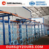 powder coating line for metal works and steel