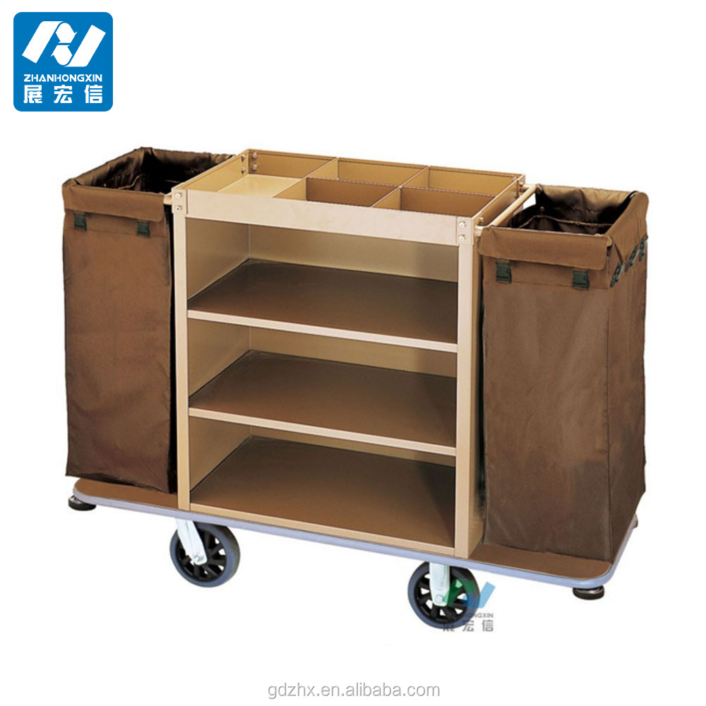 Wooden service trolley guest room service cart for hotel for Hotel room service cart