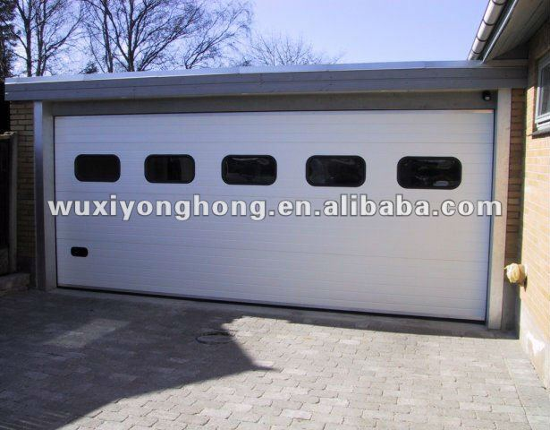 WUXI door and panel remote control garage door with windows