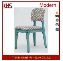 chinese supplier good quality hand mand painted leg floral fabric dining chairs