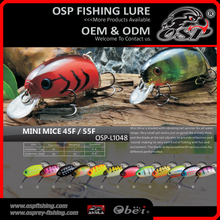 MINI MICE 45F /55F Artificial wobbler Hard fishing lures OSP laser minnow fishing lure
