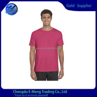 New Stylish Plain Cotton Short Sleeve Tagless Wine Red T shirt for Men