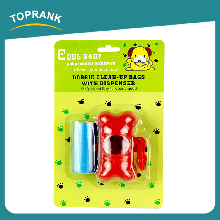 Toprank China Supplier With Dispenser/Drawstring Bag Dog Waste Dog Bags Poop Waste Bags