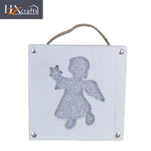 New style christmas angel shaped ornate wood picture photo frame