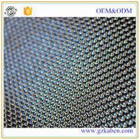 Carbon fiber cloth For decorative reinforcement use material blue colored kevlar carbon fiber hybrid cloth