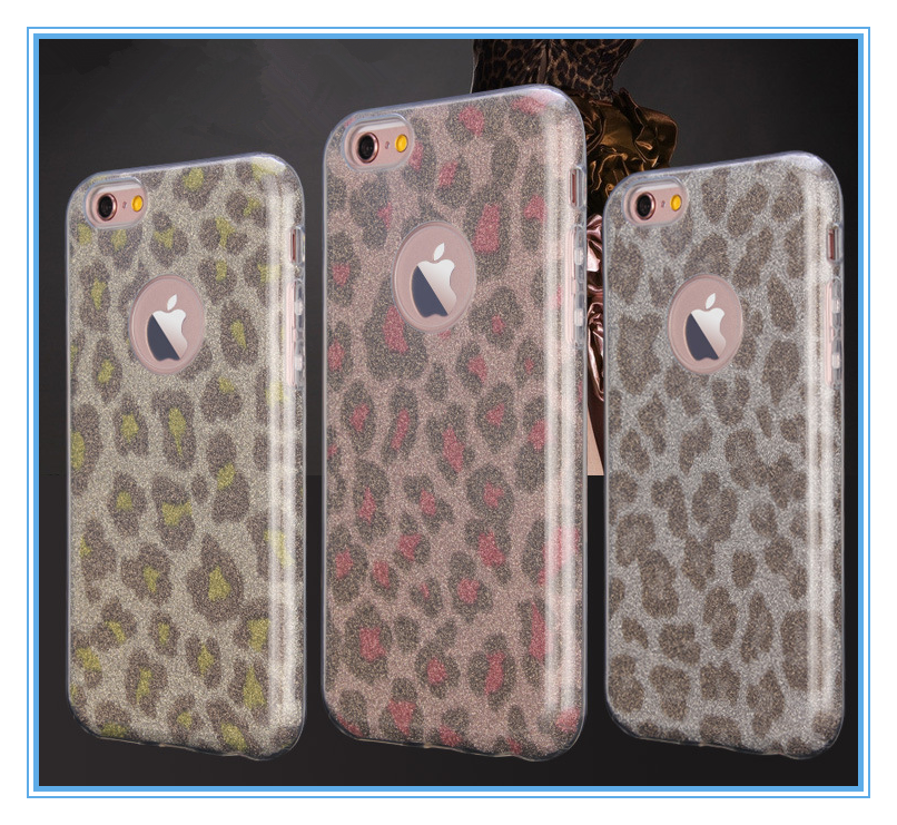for iphone 5s glitter case with leopard and camouflage design