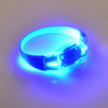 Party promotional gift blinking blue color silicon bracelet motions sensor led wristband