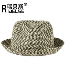 2015 new fashion wholesale twisted paper fedora straw hats men