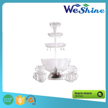 New Design 3 Tier Plastic Party LED Light Cocktail Fountain